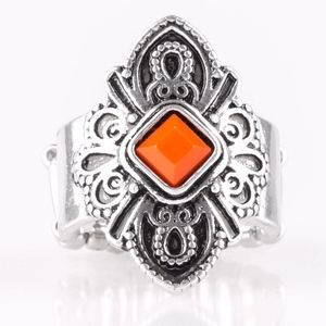 Free with Bundle Silver & Orange Ring